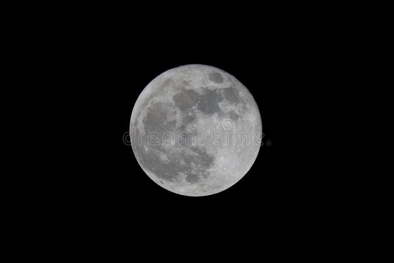 Luna Llena vista con un telescopio imagen de archivo