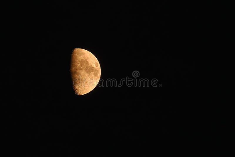 Luna mezza immagine stock