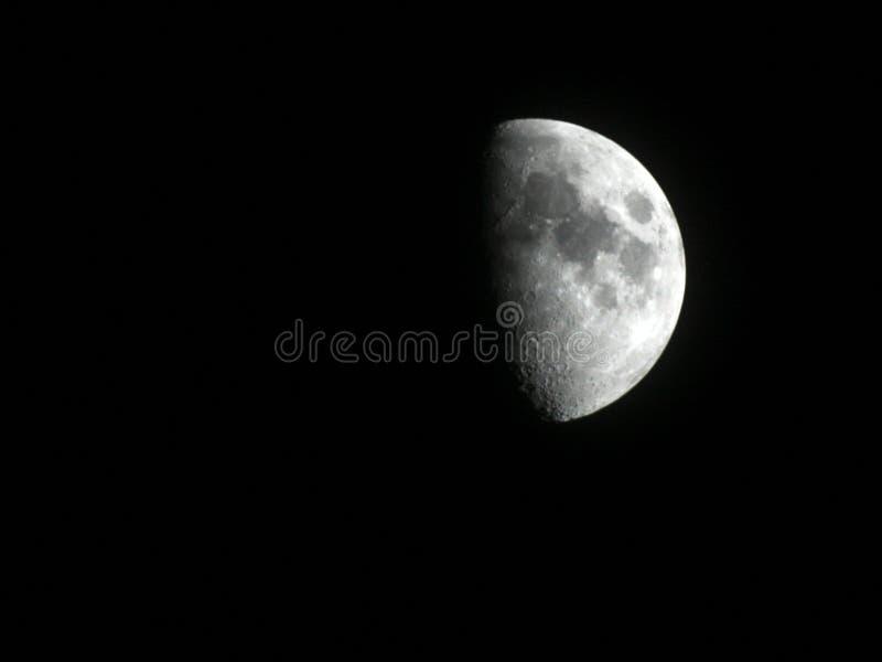 Luna mezza fotografie stock libere da diritti