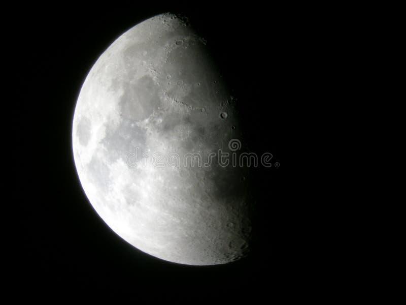 Luna mezza immagini stock