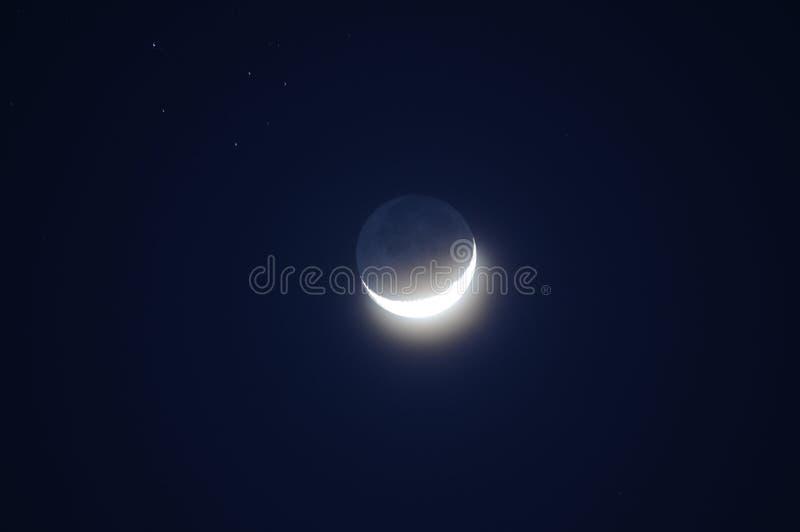 Luna a mezzaluna fotografie stock