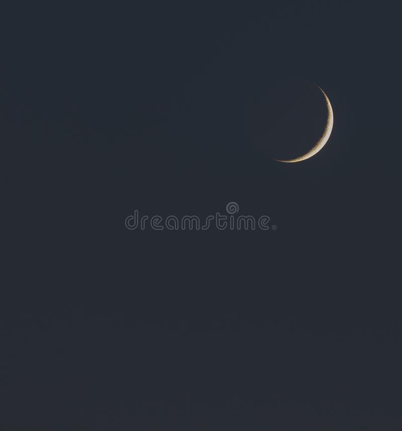 Luna Nueva fotografía de archivo libre de regalías