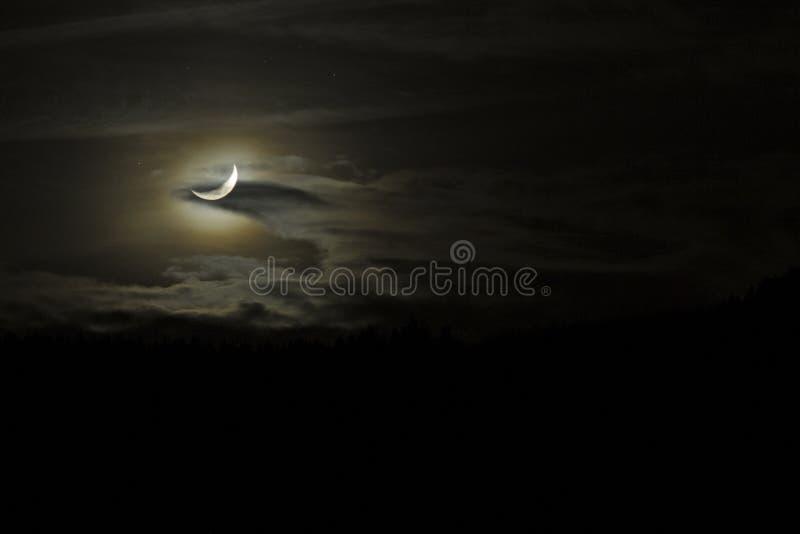 Luna & nuvole fotografie stock libere da diritti