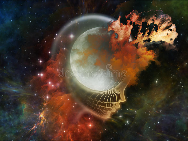 Download Luna olvidada stock de ilustración. Ilustración de individual - 42427812