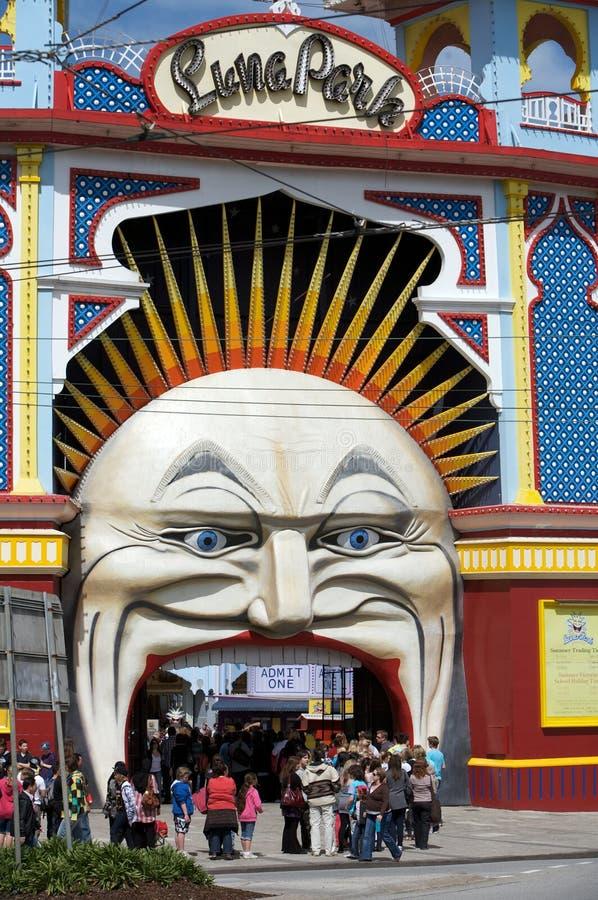 Luna Park à Sydney et à Melbourne en Australie images stock