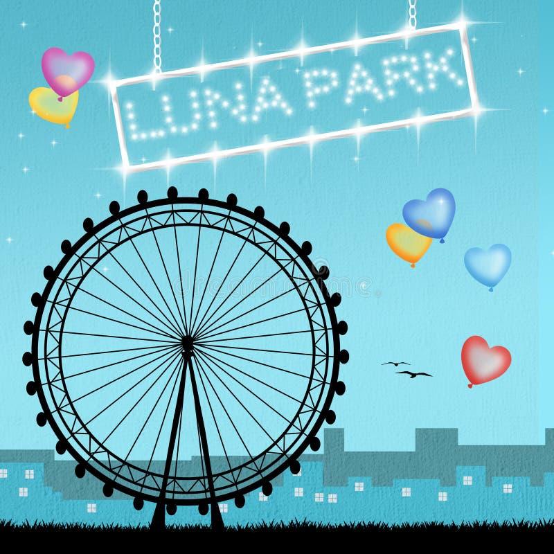 Luna Park stock de ilustración