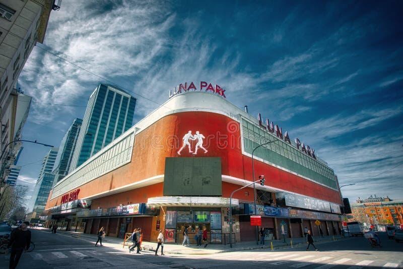 Luna Park-arena in Buenos aires royalty-vrije stock afbeelding