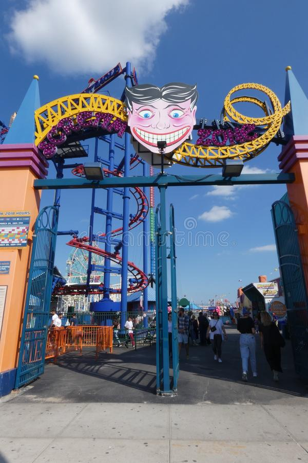 Luna Park dans Coney Island image stock