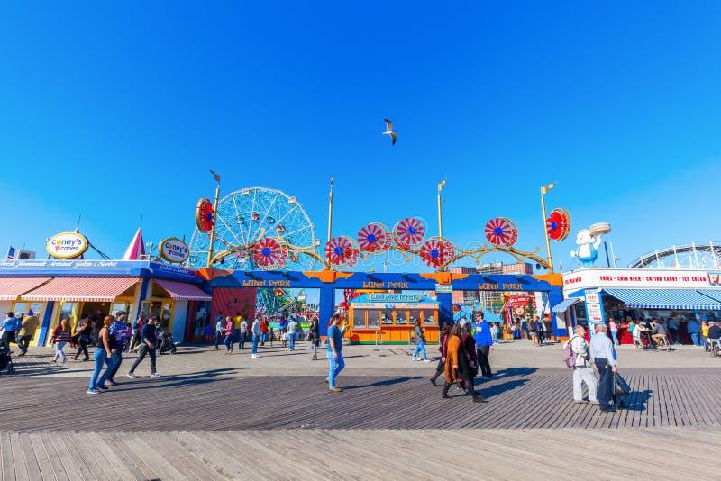 Luna Park dans Coney Island, NYC image libre de droits