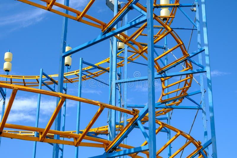 Luna Park, detalhe de montanhas russas imagem de stock royalty free