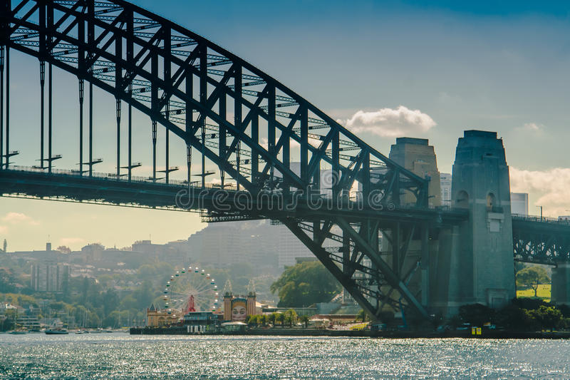Luna Park And Harbour Bridge immagine stock