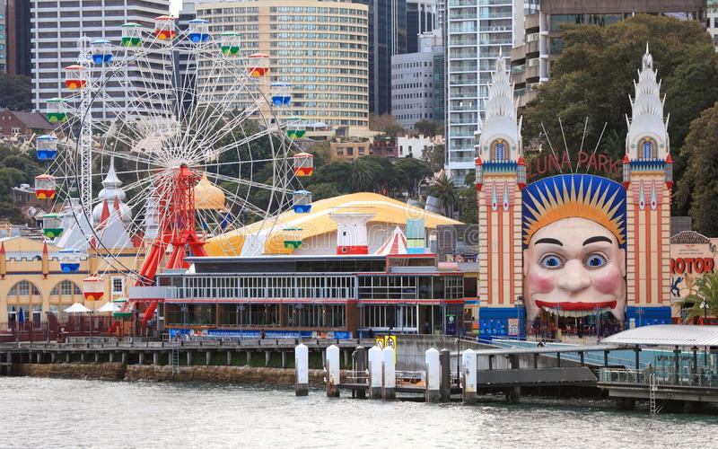 Luna Park Sydney lizenzfreie stockfotografie