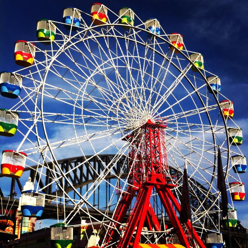 Luna Park Sydney lizenzfreies stockbild