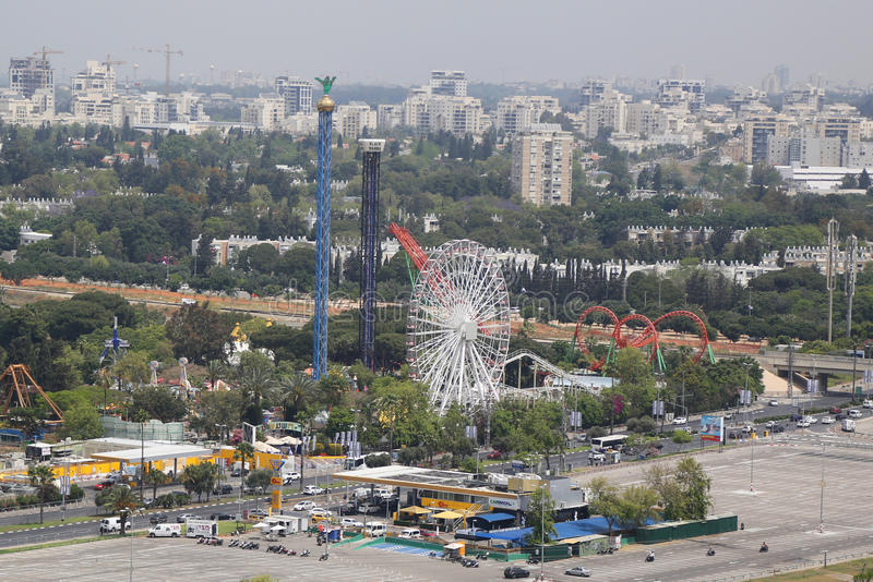 Luna Park in Tel Aviv stock photos