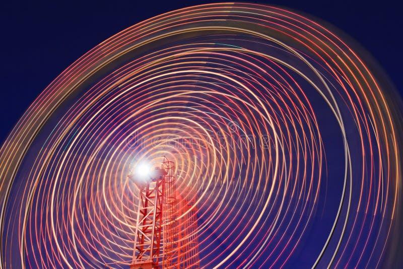 Luna Park Wheel Blur Segment Royalty Free Stock Image
