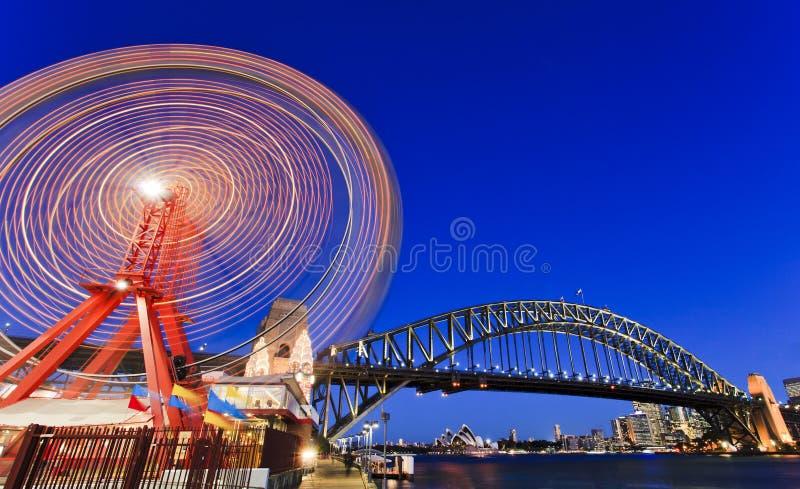 Download Luna Park Wheel Bridge stock image. Image of riding, park - 26737121