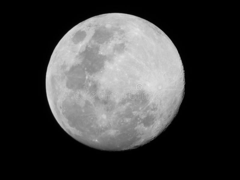 Luna piena fotografie stock
