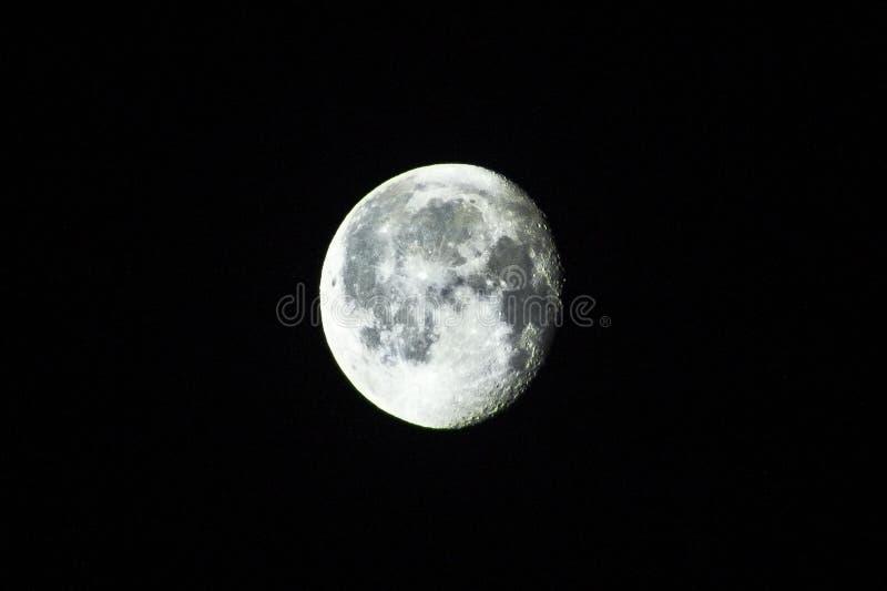 Luna piena al primo piano di notte fotografia stock libera da diritti