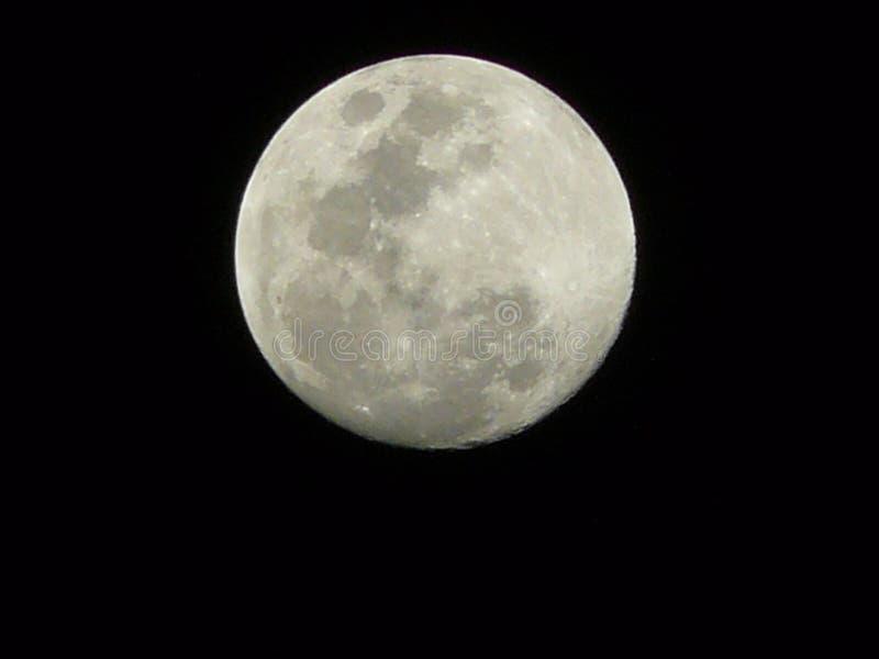 Luna piena in cielo nero immagini stock libere da diritti