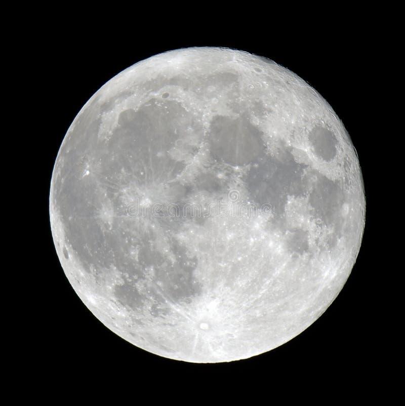 Luna piena dettagliata fotografie stock