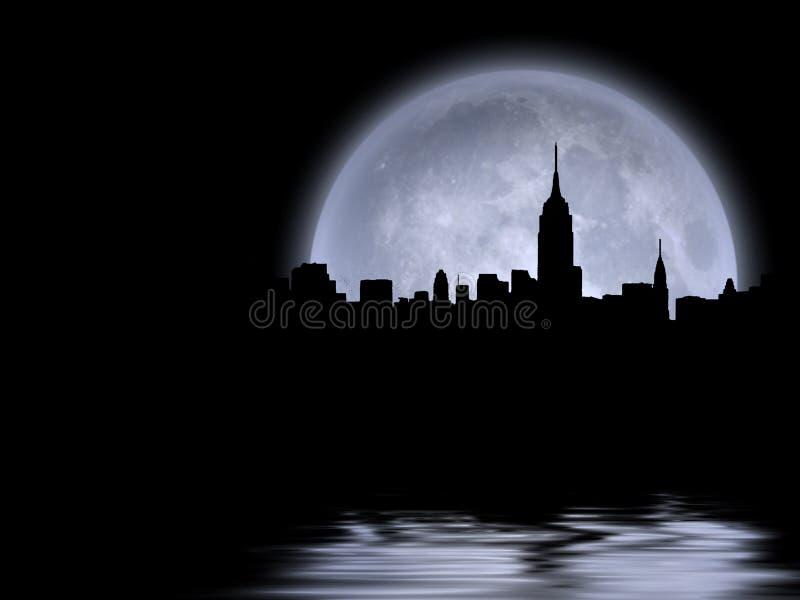 Luna piena di Manhattan royalty illustrazione gratis