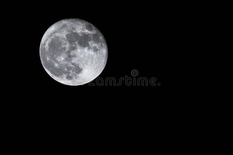 Luna piena lasciata fotografia stock libera da diritti