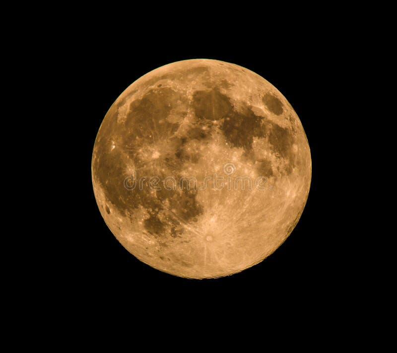 Luna piena, presa il 10 agosto 2014 fotografia stock