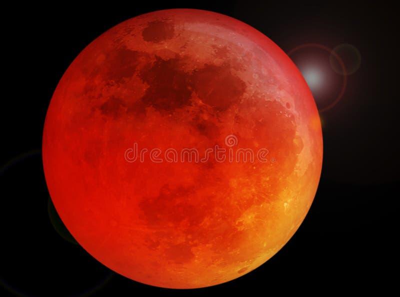 Luna piena rossa sangue immagine stock