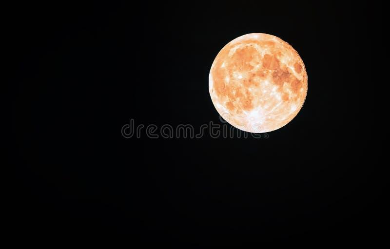 Luna piena in un cielo nero fotografie stock