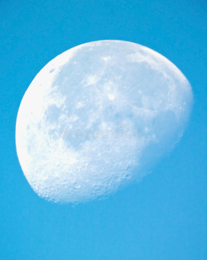 Luna por la mañana foto de archivo