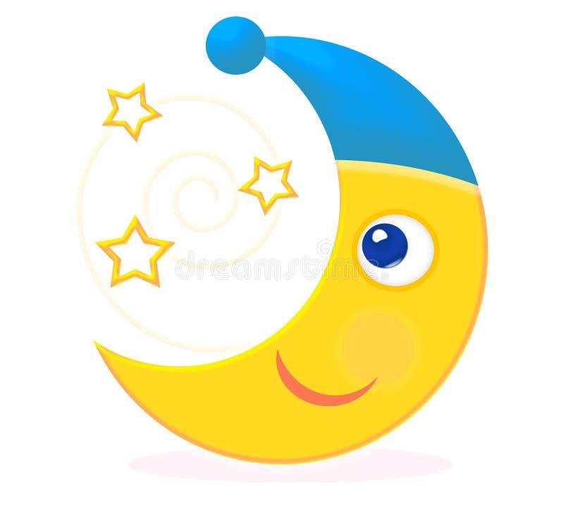 Luna que mira las estrellas libre illustration