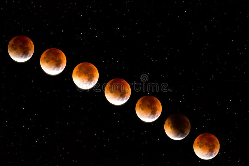 Luna roja foto de archivo