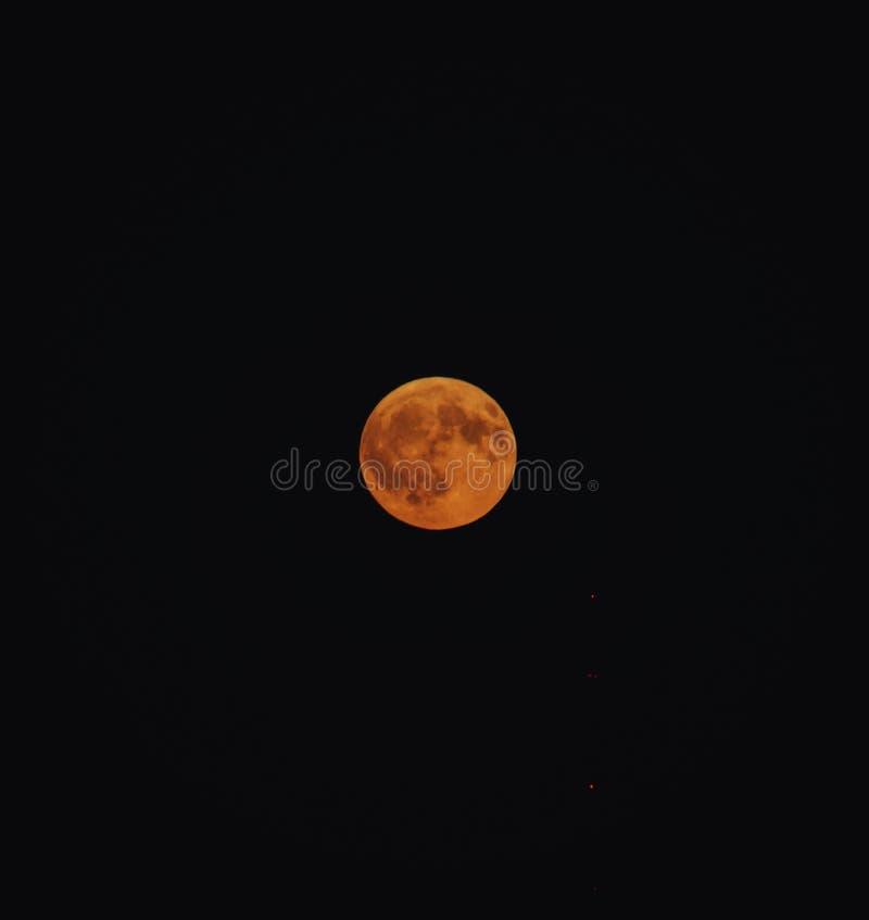 Luna rossa immagine stock libera da diritti