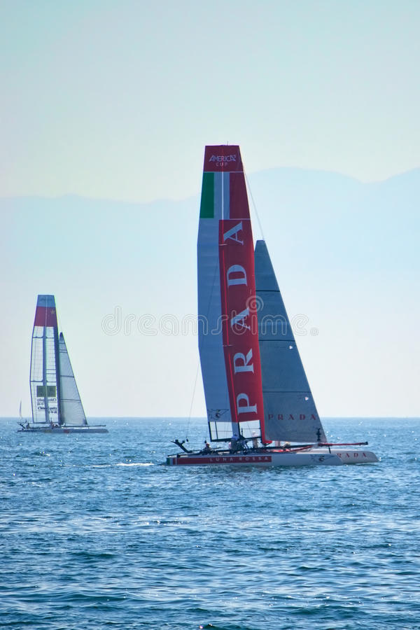 Luna Rossa Swordfish and China Team stock images
