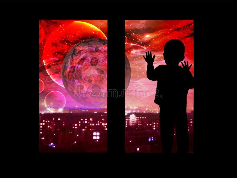 Luna sanguinante Eclipse lunare illustrazione vettoriale