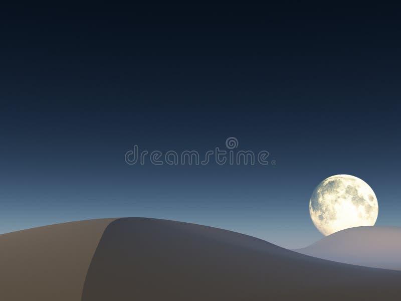 Luna sobre el desierto imagen de archivo