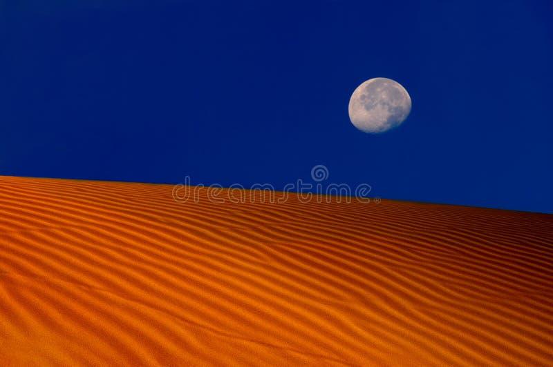 Luna sobre las dunas imágenes de archivo libres de regalías