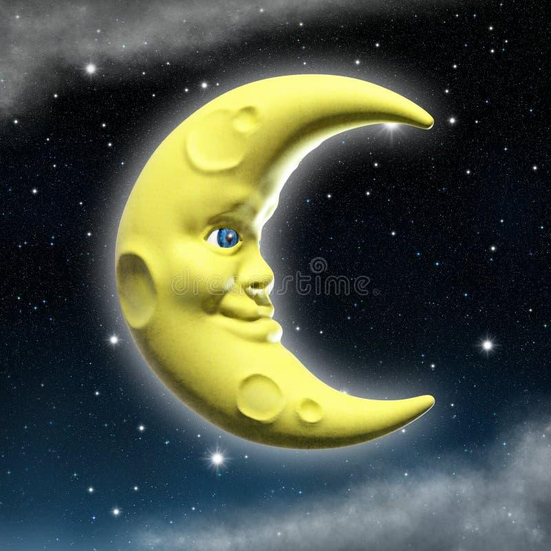 Luna sonriente ilustración del vector