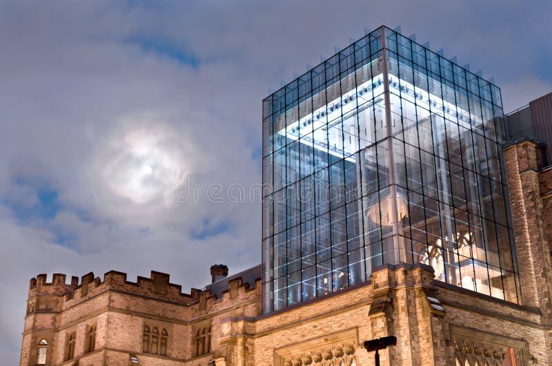 Luna sopra il museo fotografia stock libera da diritti