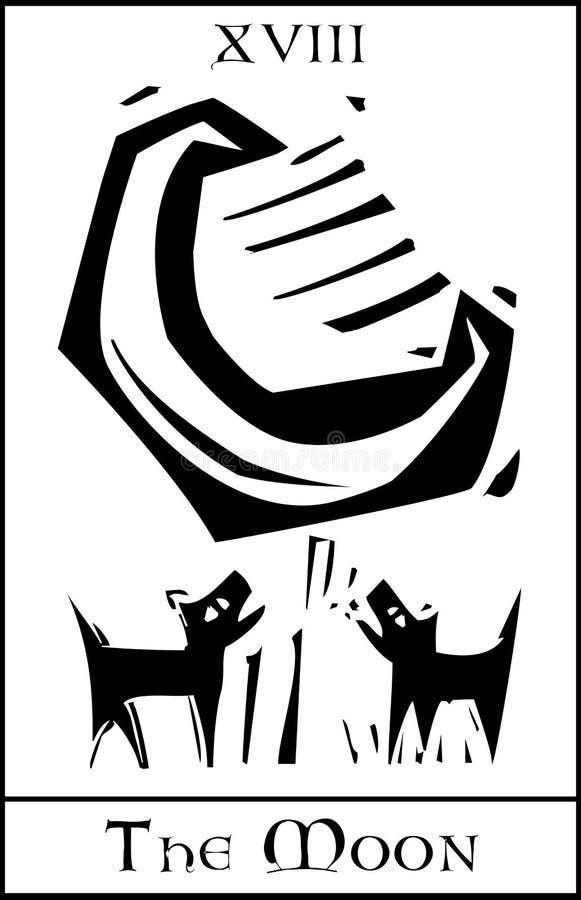 Luna Tarot stock de ilustración