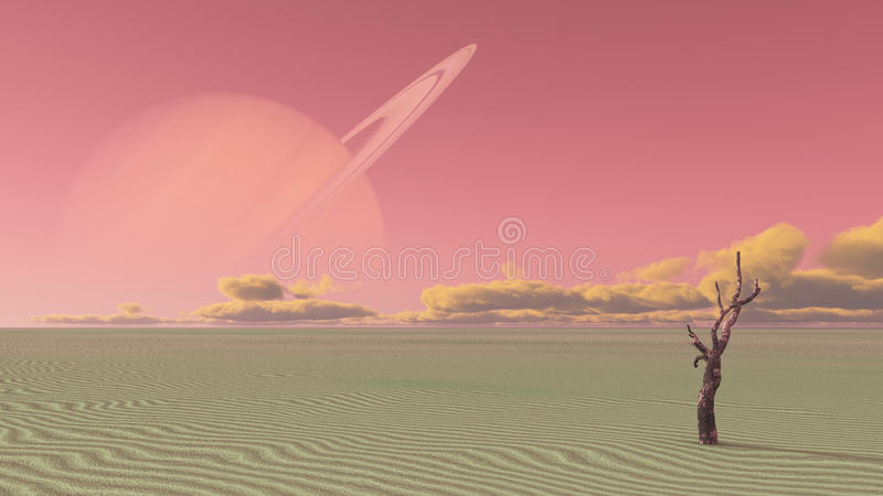 Luna terraformed desierto libre illustration