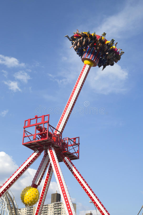 Luna 360 Thrill ride in Coney Island Luna Park stock images