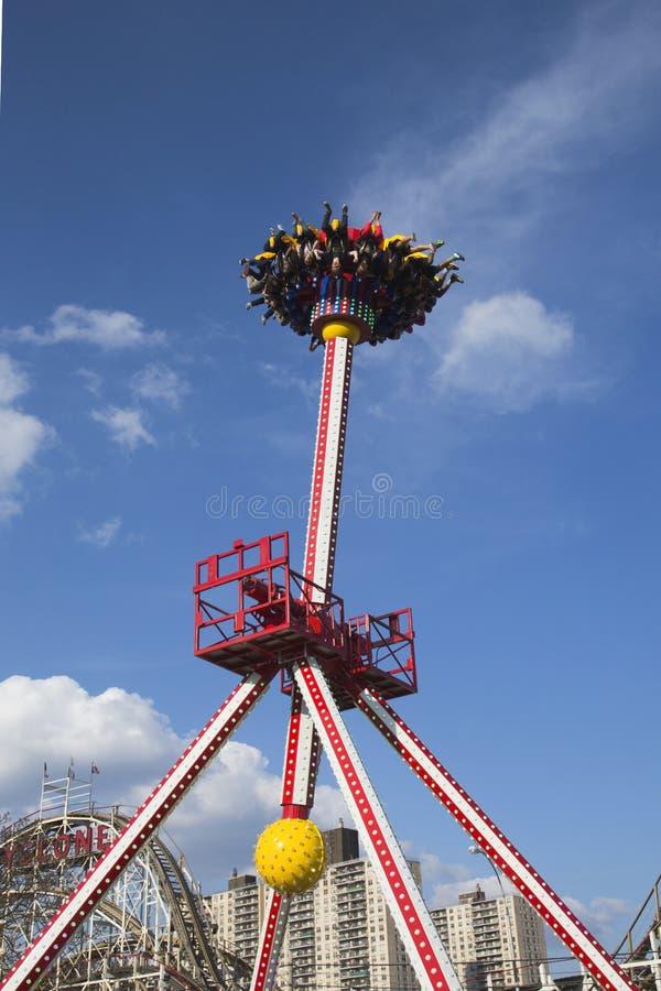 Luna 360 Thrill ride in Coney Island Luna Park stock photography