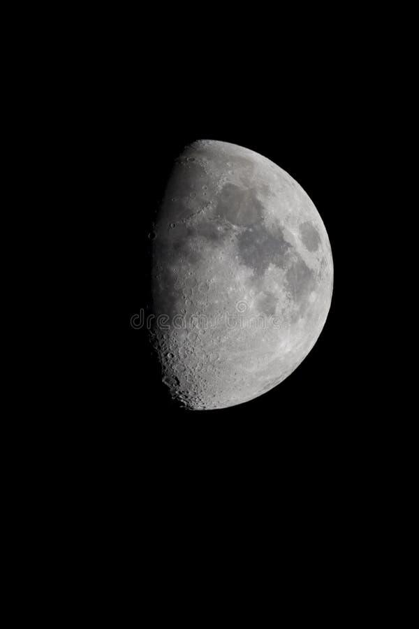 Luna y cráteres fotos de archivo libres de regalías