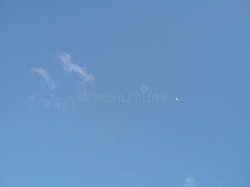 Luna y nubes 2 fotografía de archivo