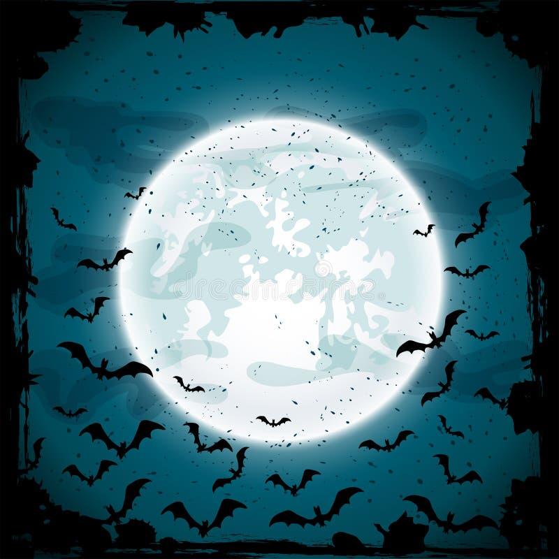 Luna y palos stock de ilustración