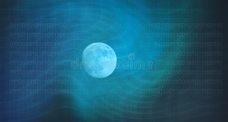 Luna y tecnologías digitales el estudio de la influencia de la luna libre illustration