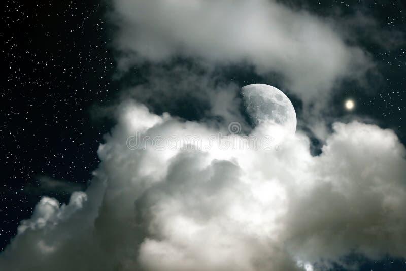 Luna y Venus foto de archivo libre de regalías