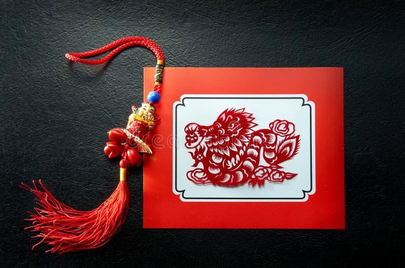 lunar år för drake royaltyfria foton
