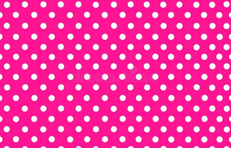 Lunar blanco con el fondo rosado ilustración del vector